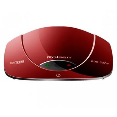 Внешний TV-тюнер DVB-T2 Rolsen RDB-507NR красный (RDB-507NR красный)ТВ-тюнеры внешние Rolsen<br><br>