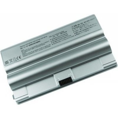 Аккумуляторная батарея TopON TOP-BPS8-NOCD (TOP-BPS8-NOCD)Аккумуляторные батареи для ноутбуков TopON<br>для Sony VAIO VGN-FZ Series; 11.1V, 5200mAh, Silver, PN: VGP-BPS8A VGP-BPS8B VGP-BPL8A VGP-BPL8B<br>