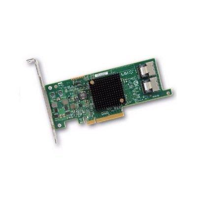 Контроллер LSI HBA SAS 9207-8i Sgl (LSI00301) (LSI00301) sas array card lsi 3ware 9690sa 4i8i amcc 9690sa