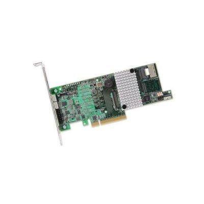 Контроллер LSI MegaRAID SAS 9271-4i Sgl (LSI00328) (LSI00328) контроллер sas sata lsi megaraid sas 9240 8i sgllsi00200 pci e 8 port sas sata raid