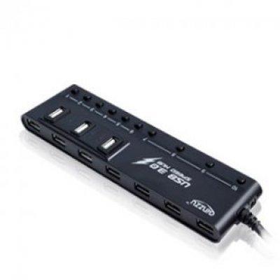 USB-концентратор Ginzzu GR-380UAB черный (GR-380UAB)