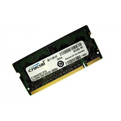 Модуль памяти 1Gb Crucial DDR2 pc-5300 667MHz SO-DIMM (CT12864AC667) (CT12864AC667)Модули оперативной памяти ПК Crucial<br>1 модуль памяти DDR2<br>объем модуля 1 Гб<br>форм-фактор SODIMM, 200-контактный<br>частота 667 МГц<br>CAS Latency (CL): 5<br>