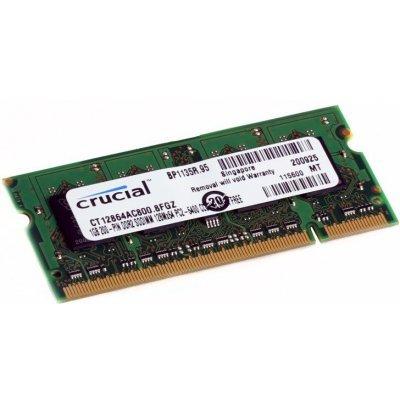 Модуль памяти 1Gb Crucial DDR2 pc-6400 800MHz SO-DIMM (CT12864AC800) (CT12864AC800)Модули оперативной памяти ПК Crucial<br>Crucial CT12864AC800/1G DDR2 1GB SODIMM - модуль оперативной памяти DDR2 объемом 1 Гб работающий на частоте 800 МГц.<br>