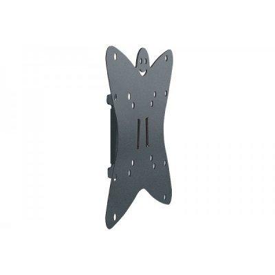 Кронштейн настенный Holder LCDS-5049 19-32 металлик (LCDS-5049 METALLIC)Кронштейн для ТВ и панелей Holder<br>для ТВ 19-32 настенный фиксированный (до 30кг)<br>