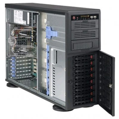 Корпус SuperMicro CSE-745TQ-920B (CSE-745TQ-920B)Корпуса серверные SuperMicro<br>Tower/4U Rackmount Chassis, 8x3.5SAS/SATA+3x5 Bays, 1x920W, CSE-745TQ-920B<br>