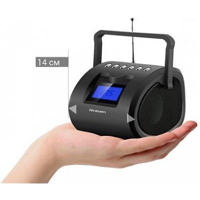 Аудиомагнитола Rolsen RBM-412 черный (1-RLAM-RBM412BL)Аудиомагнитолы Rolsen<br><br>