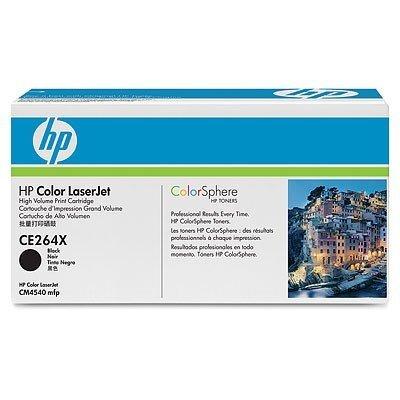 Тонер картридж HP CE264X черный для CLJ Enterprise CM4540 (CE264X)Тонер-картриджи для лазерных аппаратов HP<br>17 000 стр<br>