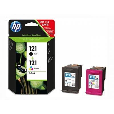 Комбинированая упаковка картриджа HP 121 Black/Tri-color (CN637HE) (CN637HE) картридж hp cn637he