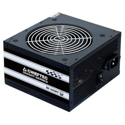 Блок питания Chieftec GPS-500A8 500W (GPS-500A8)Блоки питания ПК Chieftec<br>Smart, ATX-12V V.2.3 12cm fan, Active PFC, Efficiency 80% with power cord<br>