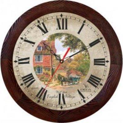 Часы настенные Вега Д 3 МД/7 144 (Д 3 МД/7 144)Часы настенные Вега <br>дерево English Village<br>