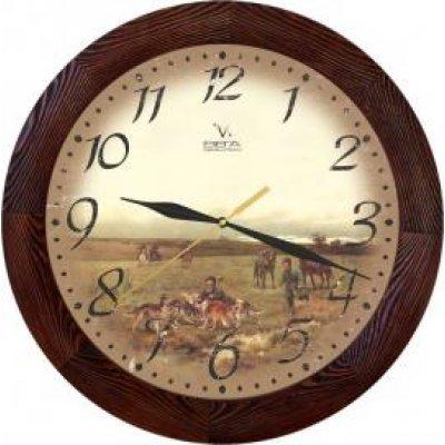 Часы настенные Вега Д 3 МД/7 149 (Д 3 МД/7 149)Часы настенные Вега <br>дерево На охоте<br>