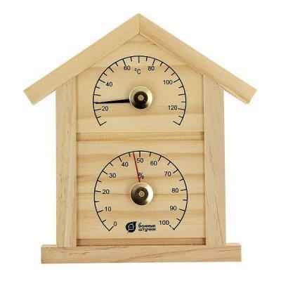 Термометр Банные штучки 18023 (БШ18023)Термометры Банные штучки<br>д/бани/сауны с гигром. Домик<br>