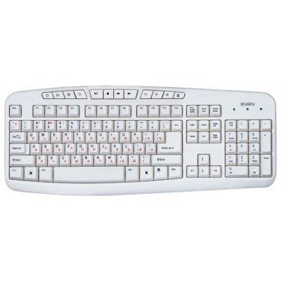 Клавиатура Sven Comfort 3050 USB белая (SV-03103050UW) клавиатура проводная sven sv 0310