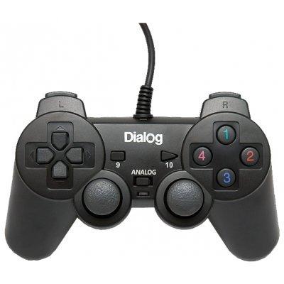 Геймпад Dialog GP-A11 черный (GP-A11 Black)Геймпады для ПК Dialog<br>вибрация, 12 кнопок, USB<br>