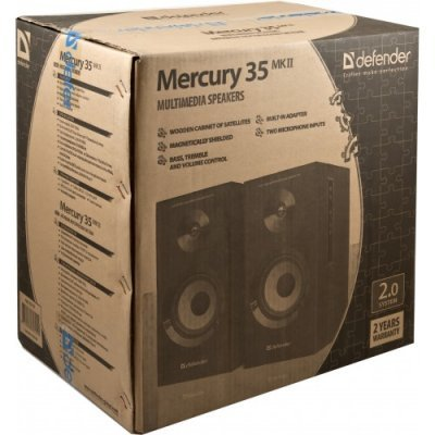 все цены на Колонки Defender Mercury 35 MkII Brown (Mercury 35 MkII Brown) онлайн