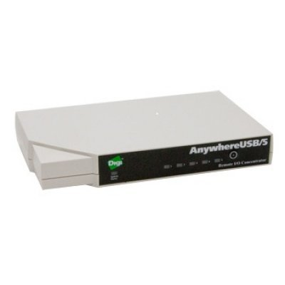 USB-концентратор Digi Anywhere AW-USB-5M-W (AW-USB-5M-W)USB концентраторы Digi<br>5 port USB over IP Hub Gen 2 with Multi-host Connections<br>
