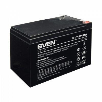 Аккумуляторная батарея для ИБП Sven SV-12120 (12V, 12Ah) (SV-0222012) аккумулятор sven sv 12v 5ah