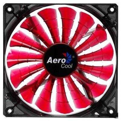 Система охлаждения Aerocool Shark Devil Red Edition (EN55437) (EN55437)Системы охлаждения корпуса ПК Aerocool<br>12см красная подсветка 3+4 pin, 32.5 CFM, 800 RPM, 12.6 dBA<br>