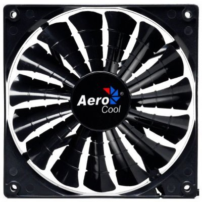 Система охлаждения Aerocool Shark Black Edition (EN55451) (EN55451)Системы охлаждения корпуса ПК Aerocool<br>14см без подсветки3+4 pin, 50 CFM, 800 RPM, 14.5 dBA<br>