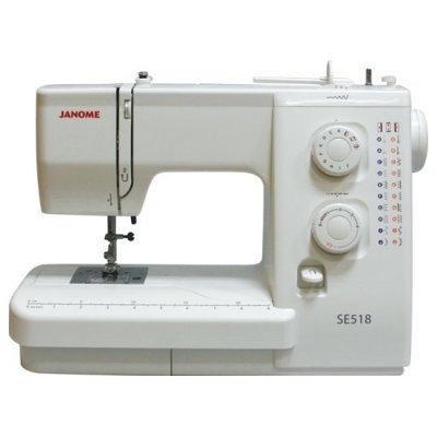 Швейная машина Janome SE 518 (SE 518)Швейные машины Janome<br>/ 21 операция, петля п/автомат, цвет: белый<br>