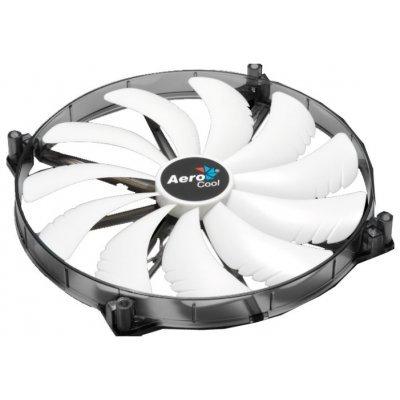 Система охлаждения Aerocool Silent Master White (EN55666) (EN55666)Системы охлаждения корпуса ПК Aerocool<br>20см белая подсветка3+4 pin, 76 CFM, 800+-200 RPM, 18 dBA<br>