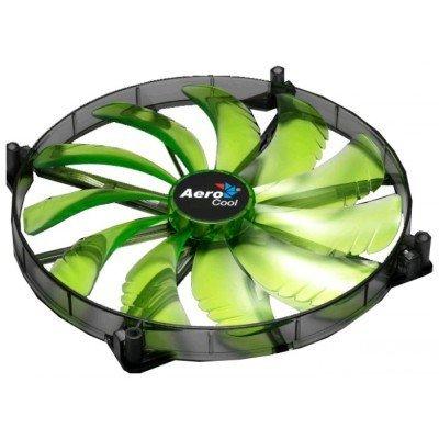 Система охлаждения Aerocool Silent Master Green (EN55710) (EN55710)Системы охлаждения корпуса ПК Aerocool<br>20см зеленая подсветка, 3+4 pin, 76 CFM, 800+-200 RPM, 18 dBA<br>