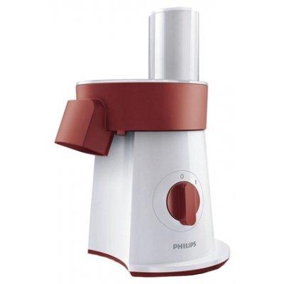 Ломтерезка Philips HR1388/50 белый-красный (HR1388/50)Ломтерезки Philips<br>200 Вт, 5 вставок: ломтики, соломка, шинковка, картофель фри<br>