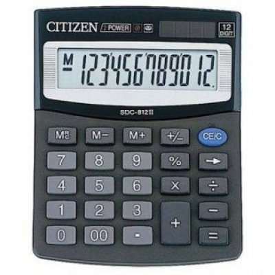 Калькулятор Citizen SDC-812 (SDC-812) калькулятор citizen sdc 888t