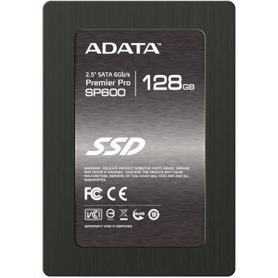 Накопитель SSD 128GB A-Data SP600 (ASP600S3-128GM-C)Накопители SSD A-Data<br>2.5 SATAIII w/brackets<br>