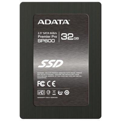 Накопитель SSD 32GB A-Data SP600 (ASP600S3-32GM-C)Накопители SSD A-Data<br>2.5 SATAIII w/brackets<br>