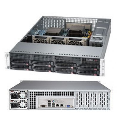 Серверная платформа SuperMicro SYS-6027R-TDARF (SYS-6027R-TDARF)Серверные платформы SuperMicro<br>2U, SATA, Black<br>