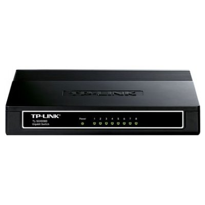 Коммутатор TP-Link TL-SG1008D (TL-SG1008D)Коммутаторы TP-link<br>8-port Gigabit Switch, plastic case<br>