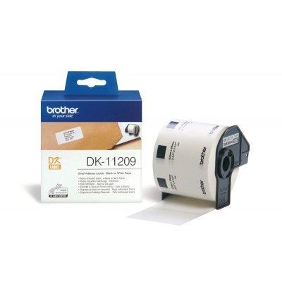 Наклейки Brother DK11209 адресные малые (29мм x 62мм) для QL-570 (DK11209)Наклейки к принтерам для этикеток Brother<br>рулон 800шт<br>