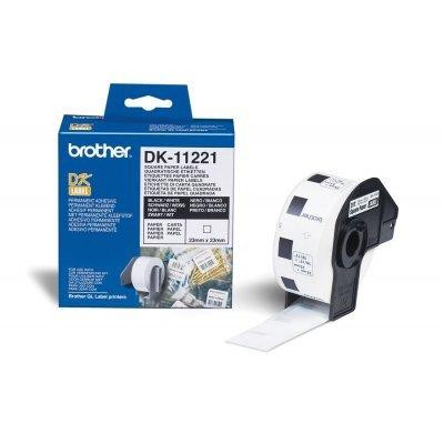 Наклейки Brother DK11221 квадратные (23мм x 23мм) для QL-570 (DK11221)Наклейки к принтерам для этикеток Brother<br>рулон 1000шт<br>