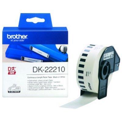 Бумажная лента Brother DK22210 для наклеек белая (29мм х 30,48м) для QL-570 (DK22210) принтер для печати наклеек brother ql 570