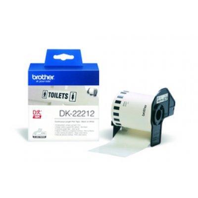 Плёнка пластиковая Brother DK22212 белая (62мм х 15,24м) для QL-570 (DK22212)Пленки к принтерам для этикеток Brother<br>неразрезанная<br>