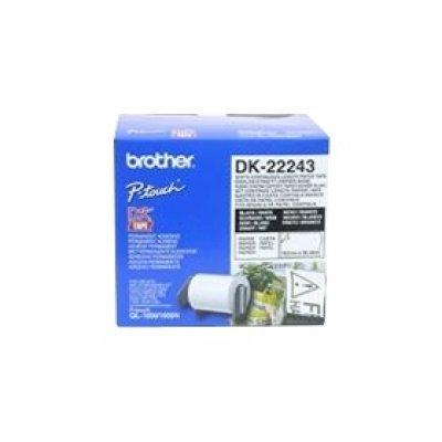 Бумажная лента Brother DK22243 для наклеек белая (102мм х 30,48м) для QL-570 (DK22243)Пленки к принтерам для этикеток Brother<br>неразрезанная<br>