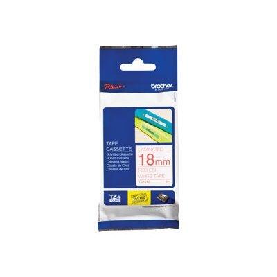 Пленка в кассете Brother TZE242 для PT-2700VP/2430PC/9700PC (TZE242)Пленки к принтерам для этикеток Brother<br>красный шрифт на белой основе, ширина 18мм<br>