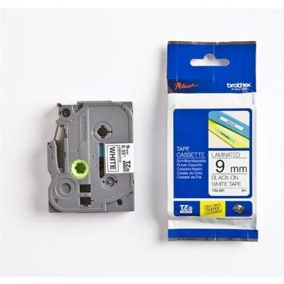 Пленка в кассете Brother TZE221 для PT-1010/1280/1280VP/2700VP/2430PC/9700PC (TZE221)Пленки к принтерам для этикеток Brother<br>чёрный шрифт на белой основе, ширина 9мм<br>