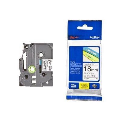 Пленка в кассете Brother TZE241 для PT-2700VP/2430PC/9700PC (TZE241)Пленки к принтерам для этикеток Brother<br>чёрный шрифт на белой основе, ширина 18мм<br>