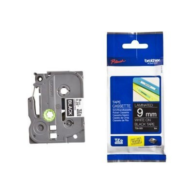 Пленка в кассете Brother TZE325 для PT-1010/1280/1280VP/2700VP/2430PC/9700PC (TZE325)Пленки к принтерам для этикеток Brother<br>белый шрифт на чёрной основе, ширина 9мм<br>