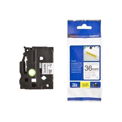 Пленка в кассете Brother TZES261 для PT-9700PC (TZES261)Пленки к принтерам для этикеток Brother<br>Чёрный шрифт на белой основе, сверхклейкая, ширина 36мм<br>