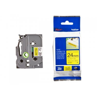 Пленка в кассете Brother TZES651 для PT-2700VP/2430PC/9700PC (TZES651)Пленки к принтерам для этикеток Brother<br>Чёрный шрифт на жёлтой основе, сверхклейкая, ширина 24мм<br>