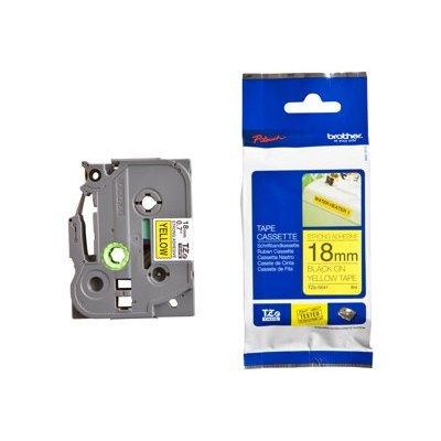 Пленка в кассете Brother TZES641 для PT-2700VP/2430PC/9700PC (TZES641)Пленки к принтерам для этикеток Brother<br>Чёрный шрифт на жёлтой основе, сверхклейкая, ширина 18мм<br>