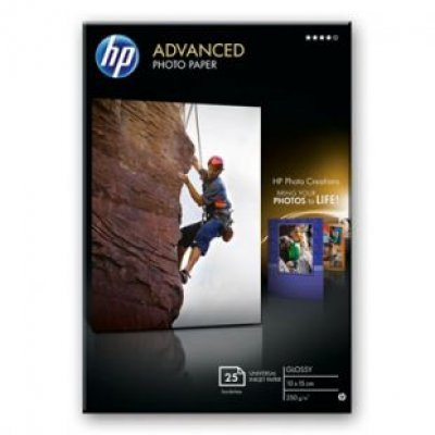 Бумага HP (Q8691A) 10x15 Advanced Glossy Photo, 250 g/m, (25 sheets) (Q8691A)Фотобумага HP<br>(Описание)<br>