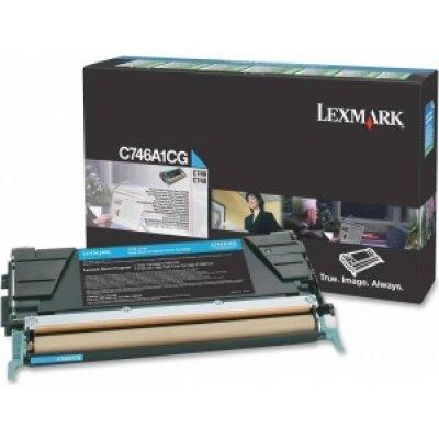 Тонер-картридж Lexmark C746A1CG голубой (C746A1CG) картридж lexmark 70c8hke для lexmark cs510 cs410 cs310 черный 4000стр