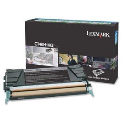 Тонер-картридж Lexmark C746H1KG чёрный (C746H1KG)Тонер-картриджи для лазерных аппаратов Lexmark<br>высокой емкости, C746, C748, 12000 страниц (LRP)<br>