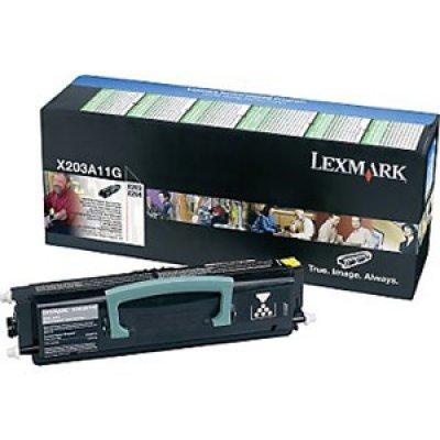 Тонер-картридж Lexmark X203A11G чёрный (X203A11G)Тонер-картриджи для лазерных аппаратов Lexmark<br>для X203, X204, 2500 страниц, (в рамках программы возврата)<br>