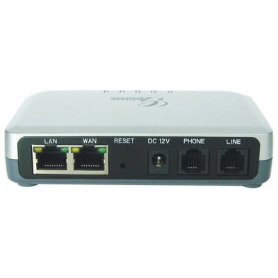 Адаптер VoIP Grandstream HT503 (HT503)Адаптеры VoIP Grandstream<br>VoIP-адаптер, протокол SIPv2, порты 1xLAN (RJ-45 10Base-T Eternet), 1хWAN(RJ-45 10Base-T Eternet порт, DHCP сервер, NAT), 1xFXO(RJ-11), 1xFXS(RJ-11), управление по IP, набор DTMF<br>