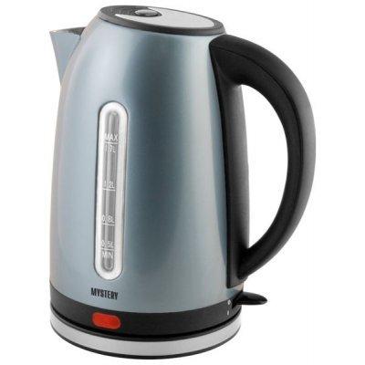 Электрический чайник Mystery MEK-1630 (MEK-1630)Электрические чайники Mystery<br>чайник, объем 1.7 л, мощность 2000 Вт, закрытая спираль, установка на подставку в любом положении, стальной корпус, индикация включения<br>